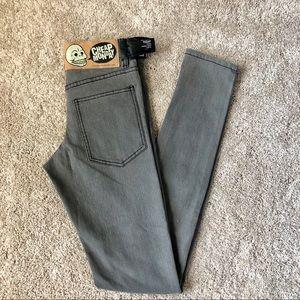 NWT Cheap Monday gray tight jeans